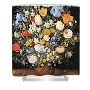 Bouquet In A Clay Vase Shower Curtain