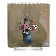 Bouquet Of Anemones Shower Curtain by Odilon Redon