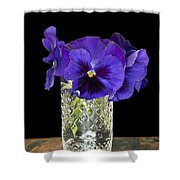 Bouquet Of Flowers Pansies Shower Curtain