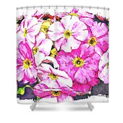 Bouquet Of Pink Shower Curtain