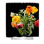 Bouquet Of Ranunculus Shower Curtain