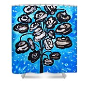 Bouquet Of White Poppies Shower Curtain