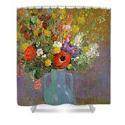 Bouquet Of Wild Flowers  Shower Curtain by Odilon Redon