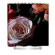 Bouquet With Rose Shower Curtain