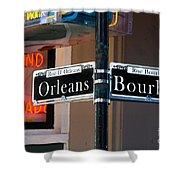 Bourbon And Orleans Shower Curtain