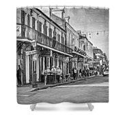 Bourbon Street Afternoon - Paint Bw Shower Curtain