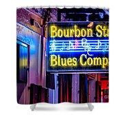 Bourbon Street Blues Shower Curtain
