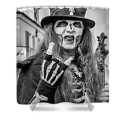 Bourbon Street Denizon Bw Shower Curtain