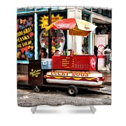 Bourbon Street Lucky Dog Shower Curtain by Bill Cannon