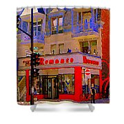Boutique Erotique Romance Mont Royal The Love You Make Is Equal To The Love You Take City Scene Art Shower Curtain