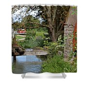Bouy By Canal Shower Curtain