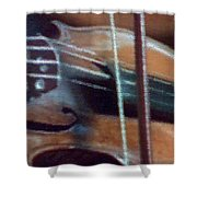 Bow And Strings Shower Curtain