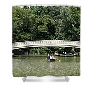 Bow Bridge And Row Boats Shower Curtain