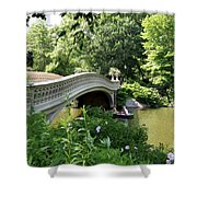 Bow Bridge And Rowboat Nyc Shower Curtain