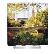 Bow Bridge - Autumn - Central Park Shower Curtain