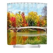 Bow Bridge Autumn In Central Park  Shower Curtain
