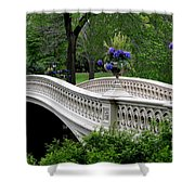 Bow Bridge Flower Pots - Central Park N Y C Shower Curtain