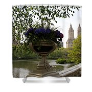 Bow Bridge Flowerpot And San Remo Nyc Shower Curtain