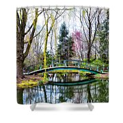 Bow Bridge - Grounds For Schulpture Shower Curtain