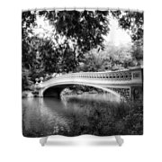 Bow Bridge In Black And White Shower Curtain