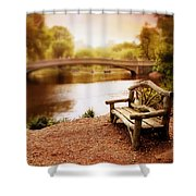 Bow Bridge Nostalgia 2 Shower Curtain