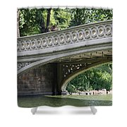 Bow Bridge Texture - Nyc Shower Curtain