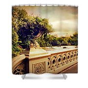 Bow Bridge View Shower Curtain