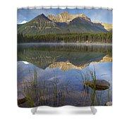 Bow Range And Herbert Lake Banff Shower Curtain