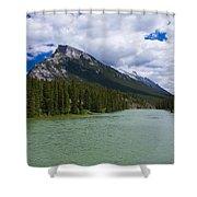 Bow River - Banff Shower Curtain