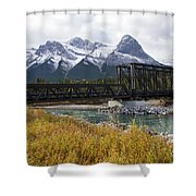 Bow River Railroad Trestle Shower Curtain