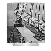 Bow Sprit In Bnw Shower Curtain