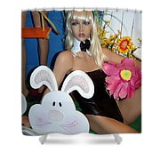Bow Tie Blonde Shower Curtain