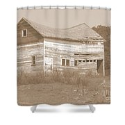 Bowed And Lonely Barn Shower Curtain
