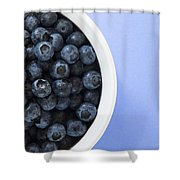 Bowl Of Blueberries Shower Curtain by Steven Raniszewski