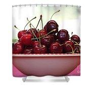 Bowl Of Cherries Closeup Shower Curtain by Carol Groenen