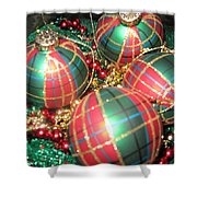Bowl Of Christmas Colors Shower Curtain