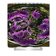 Bowl Of Dahlias Shower Curtain