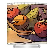 Bowl Of Fruit 8 Shower Curtain