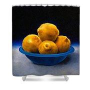 Bowl Of Lemons Shower Curtain