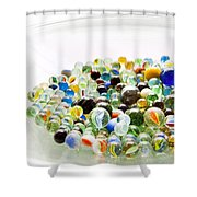 Bowl Of Marbles Shower Curtain
