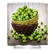 Bowl Of Peas Shower Curtain by Elena Elisseeva