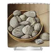 Bowl Of Pebbles Shower Curtain