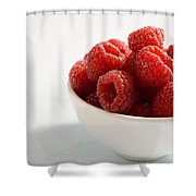 Bowl Of Raspberries Shower Curtain