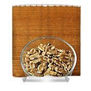 Bowl Of Shelled Walnuts Shower Curtain