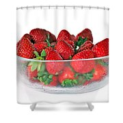 Bowl Of Strawberries Shower Curtain