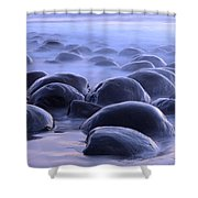Bowling Ball Beach California Shower Curtain