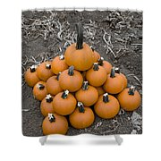Bowling For Pumpkins Shower Curtain
