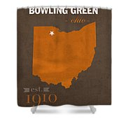 Bowling Green State University Falcons Ohio College Town State Map Poster Series No 021 Shower Curtain
