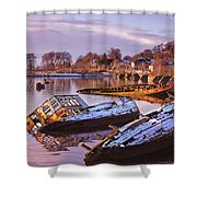 Bowling Harbour 03 Shower Curtain