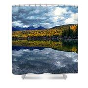 Bowman Lake Quietude Shower Curtain
